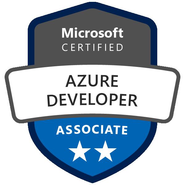 Badge Microsoft : Azure Developer