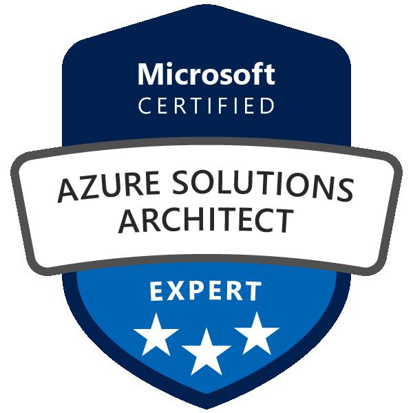 Badge Microsoft : Azure Solutions Architect Expert